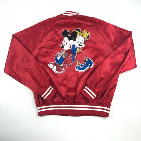 6c8693d7 Nasco Jackets & Coats | Vintage Mickey Minnie Disney Satin Bomber ...